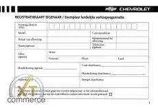 Chevrolet Service Buch auf Niederländisch
