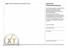 Opel Serviceheft Deutsch